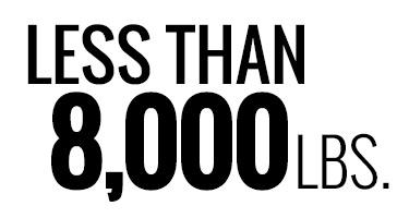 Less Than 8,000 lbs.